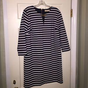 Michael Kors Navy/White Ponte Dress